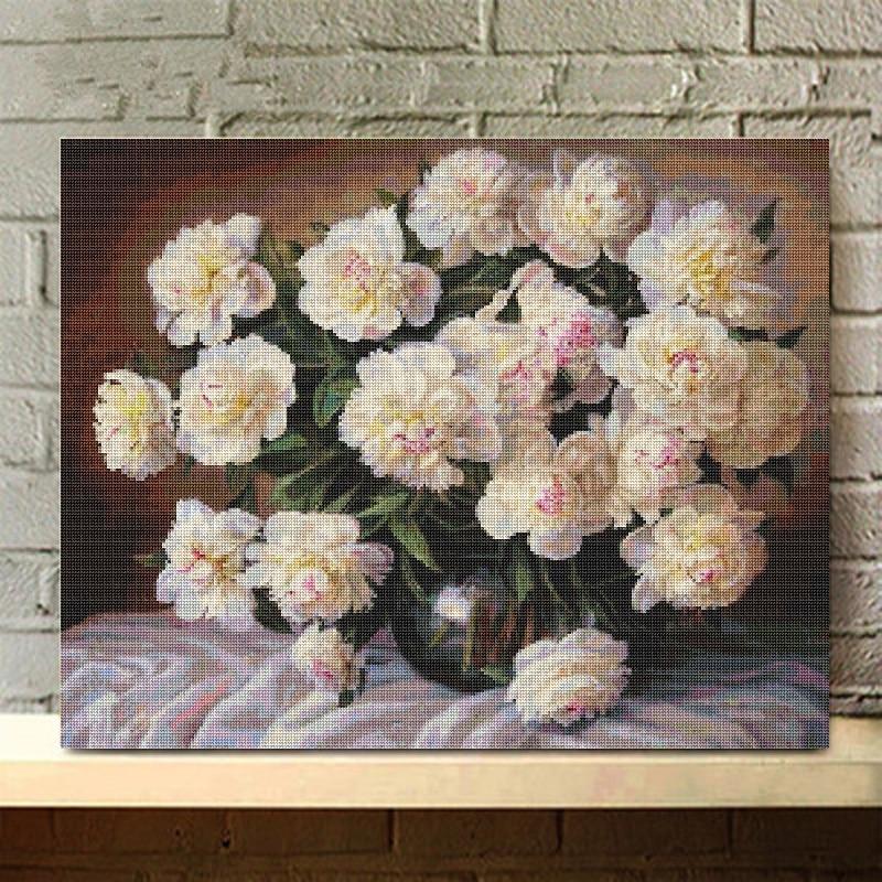 Flores de moda 5D Diy diamante pintura artesanías diamante bordado Navidad imagen completa Rhinestone decoraciones de pared regalo