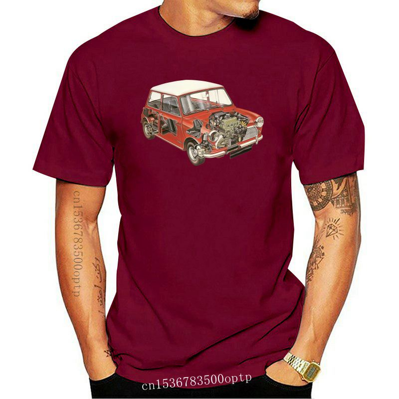 Casual T Shirt Austin Mini Classic 1275 Car Male 100% Cotton Short Sleeve Tee Shirts New Color Youth Design T-Shirt Tops Male