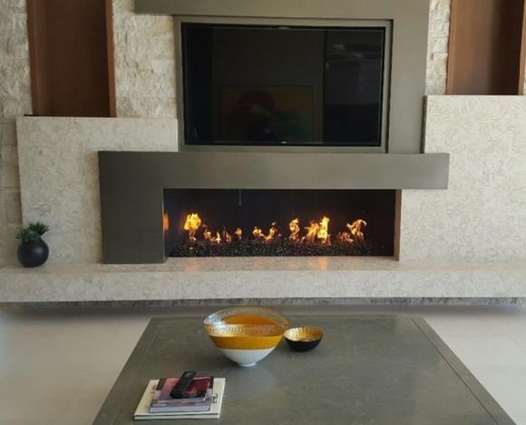 Inno-Fire 48 بوصة النار الحقيقية الفولاذ المقاوم للصدأ دليل الموقد الوقود الحيوي الموقد