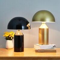 Нордическая Минималистичная настольная лампа, современные светодиодные лампы в виде грибов для гостиной, спальни, кабинета, светильник Ник...