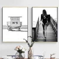 wall art home decor nordic hd print sexy beauty modular picture black and white posters canvas painting for bedroom framework
