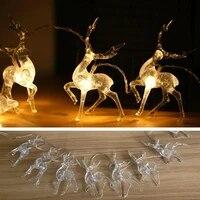led sika deer light string christmas elk lantern transparent light string for bedroom room wall christmas tree wedding party