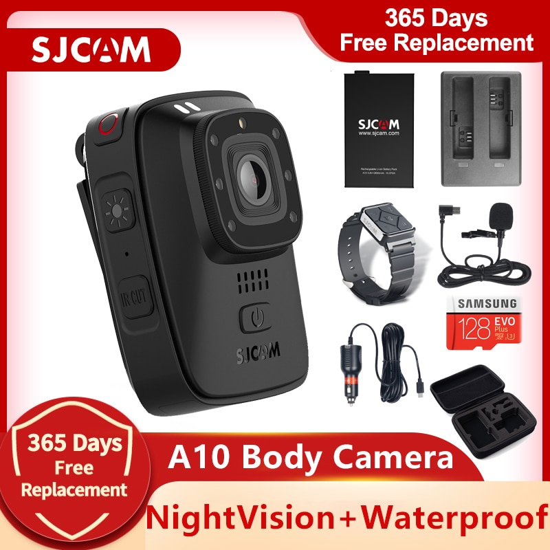 Review SJCAM A10 Body Camera Portable Wearable Infrared Security Camera IR-Cut Night Vision Laser Positioning Action Camera