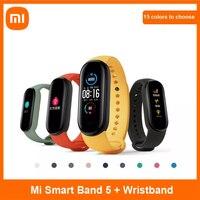 [MAORR500 2500-500] умный Браслет Xiaomi Mi Band 5 глобальная версия 9 языков умные Miband экран Смарт Браслет сердечного ритма фитнес Traker Bluetooth