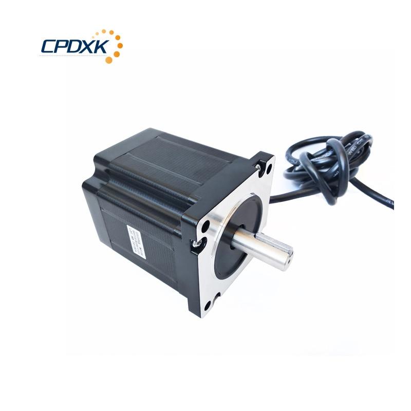 محرك متدرج Nema34 ، 6.8N.m/8.5N.m/12N.m/5A /6A/5.5A/100 مللي متر/118 مللي متر/156 مللي متر ، طول لجهاز التوجيه CNC