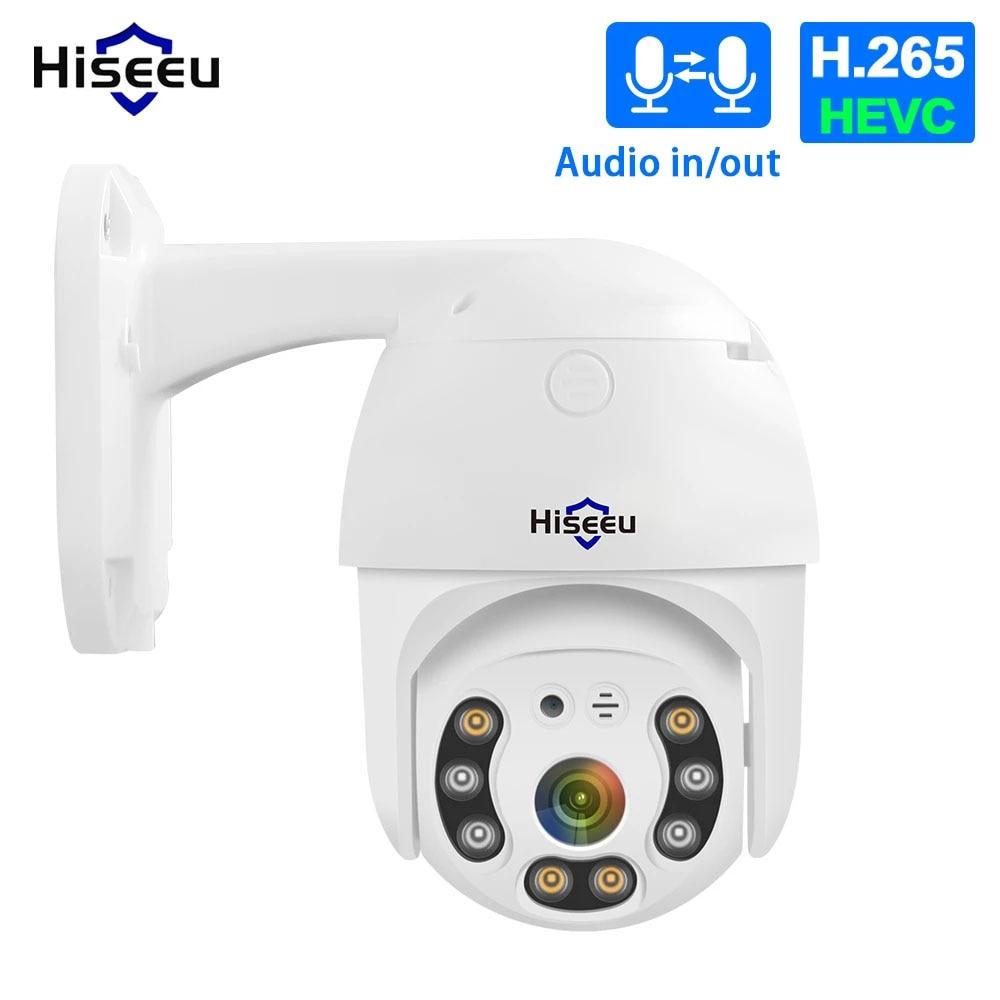 Hiseeu 2MP 5MP POE PTZ فيديو IP CCTV مراقبة الأمن نظام الكاميرا عدة 4X التكبير الرقمي مسجل NVR في الهواء الطلق مقاوم للماء