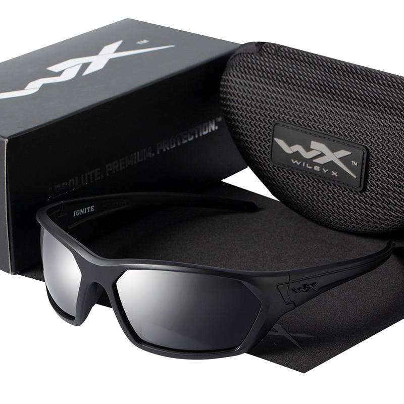 Wiley X Polarized Sunglasses Men Anti-Glare Driving Sports Eyewear UV400 Protection Mirror Cycling Glasses Oculos