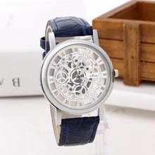 Men Luxury Stainless Steel Casual Quartz Military Sport Leather Band Dial Wrist Watch Round Montre h