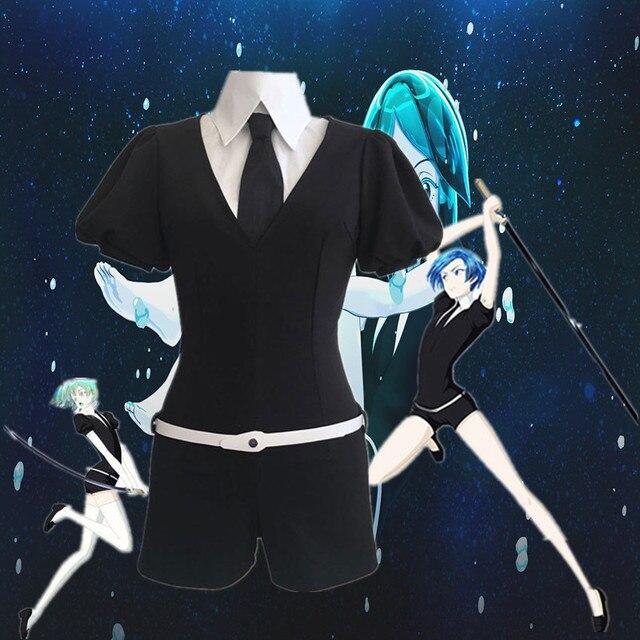 Halloween Anime houseki no kuni tierra de la brillante cosplay de peluca phosphophyllite bort de rutilo