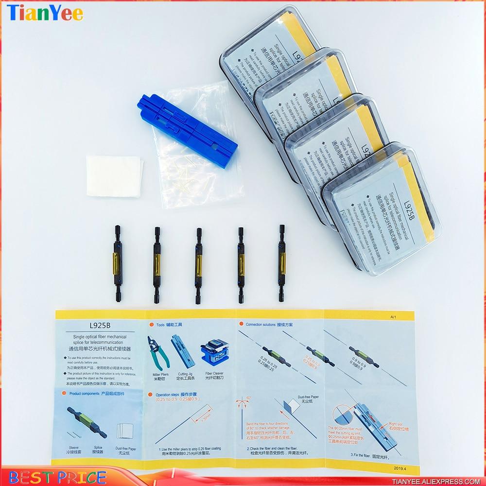 10pcs 20pcs 50pcs lot L925B Fiber Optic Quick Connector Optical Fiber Mechanical Splice for Drop Cable cold connector