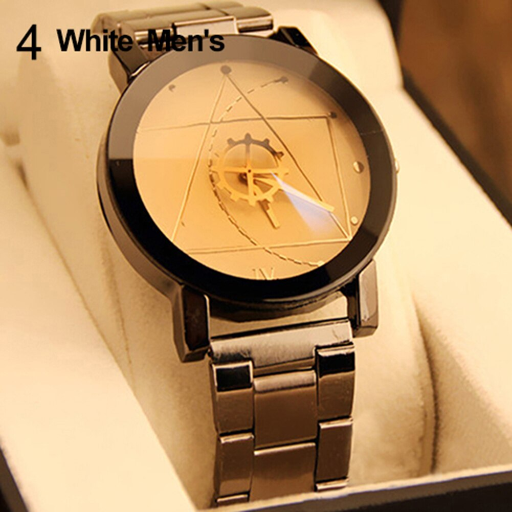 Fashion Arrival Men's Women's Lover Compass Hands Stainless Steel Band Analog Quartz Wrist Watch Who