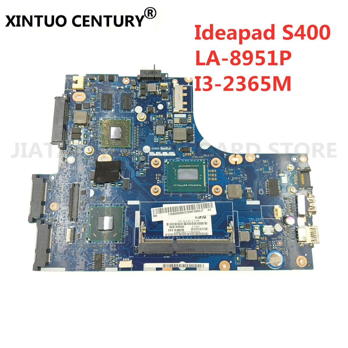 Für lenovo ideapad S300 S400 Laptop Mainboard VIUS3 VIUS4 LA-8951P motherboard mit grafiken I3-2365M