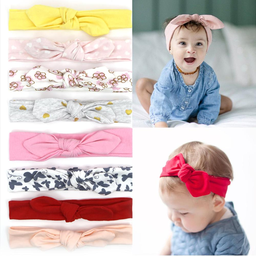Baby girl Headband flower print hair bands for newborn baby hair accessories for litle girl headbands for children 3PCS/SET