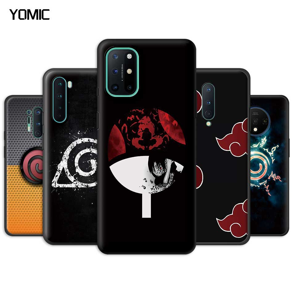 Naruto Anime Logo Case for Oneplus 8 Nord N10 N100 8T 7 7T Pro 5G Z Black TPU Soft Phone Cover for 1