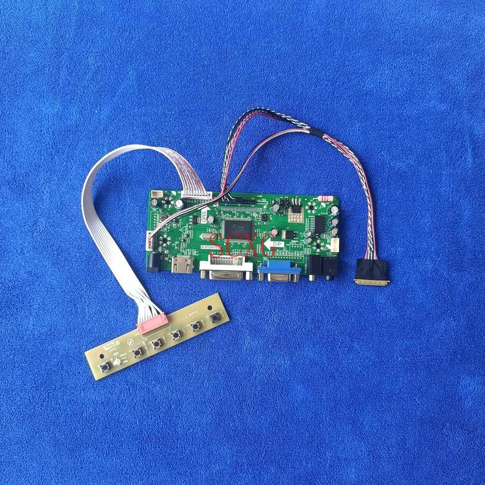 60Hz WLED HDMI-متوافق DVI VGA صالح N184H6/N184HGE LVDS 40 دبوس 1920*1080 لتقوم بها بنفسك عدة شاشة الكريستال السائل محرك تحكم مجلس M.NT68676