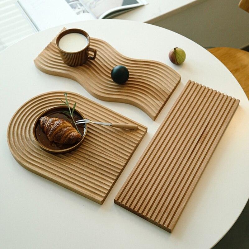 Placa de Corte de Bandeja de Sobremesa de Pão Ondinha de Água Design Geométrico Criativo