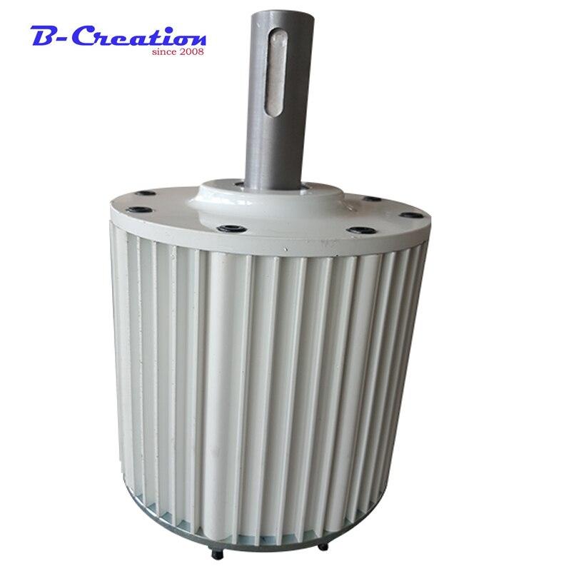 مولد كهربائي بمغناطيس دائم ، مولد طاقة الرياح ، 2kw MAX 2.5KW ، 48v ، 96v ، 110v ، 220v ، بدون فرش عالي الكفاءة
