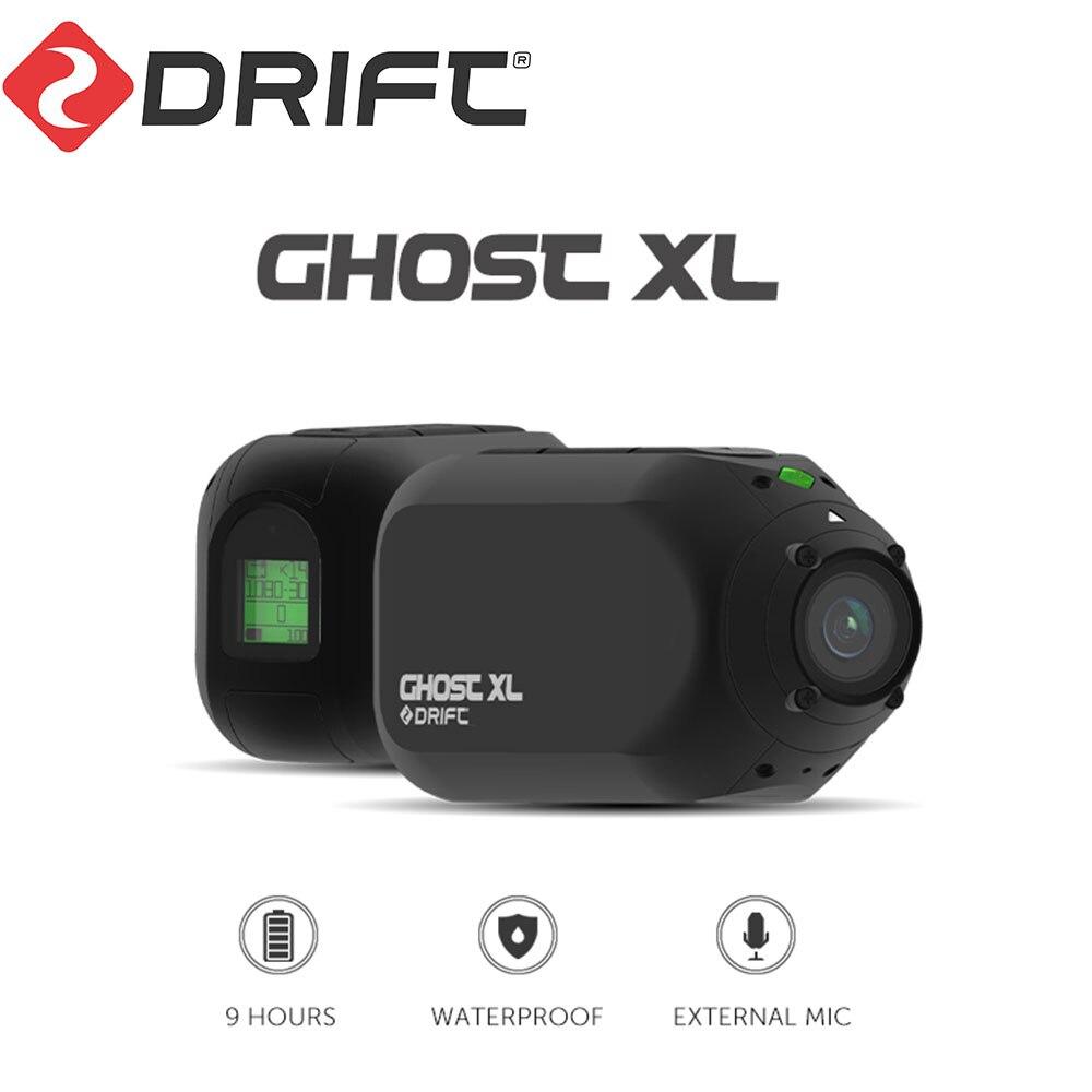 Экшн-камера Drift Ghost XL, водонепроницаемая камера для шлема с поддержкой IPX7, 1080P, функцией записи видео 8 часов, Время работы батареи