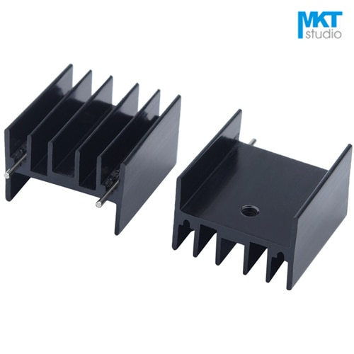 10Pcs Black 25*23*16mm Aluminum Cooling Fin Radiator Heat Sink With Pins For TDA7294 L298 ICs