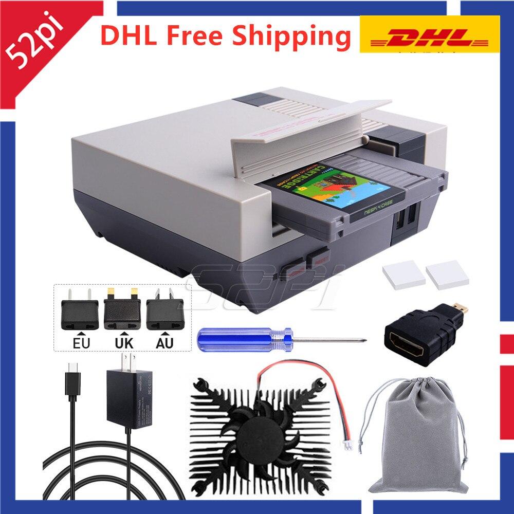 En Stock! DHL livraison gratuite! Boîtier rétroflag NESPi 4 avec boîtier SSD, alimentation USB-C, ventilateur de refroidissement pour framboise Pi 4B