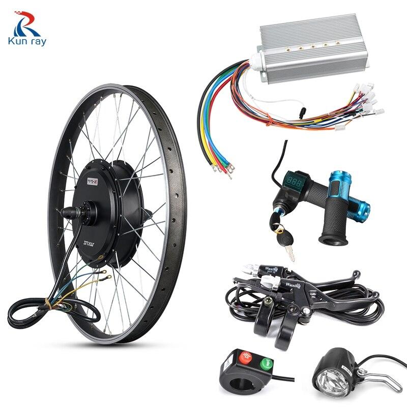 MXUS Electric Mortor Wheel 48-72V 3000W Ebike Conversion Kit Electric Bicycle Rear Hub Motor Controller LCD Throttle Ebike Kit
