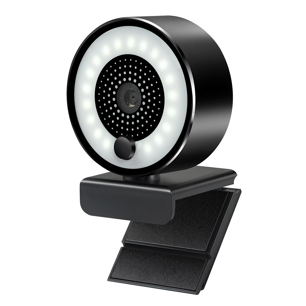 VODOOL-كاميرا ويب 2K HD FOV ، ضبط تلقائي للصورة ، مع ضوء حلقي مدمج ، 5 ميجابكسل ، USB 3.0 ، مع ميكروفون ، لنظام التشغيل Windows 7/8/10 TV