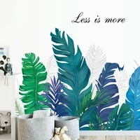 tropical plant wall stickers teenager bedroom living room decor modern vinyl wall decals wallstickers pegatinas de pared