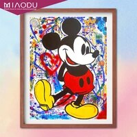 diy diamond painting disney cartoon mickey mouse poster cross stitch embroidery kit full round drill mosaic resin home decor