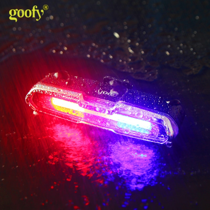 Bicycle waterproof taillight riding taillight LED USB rechargeable mountain bike bicycle light taillight helmet light multi-mode