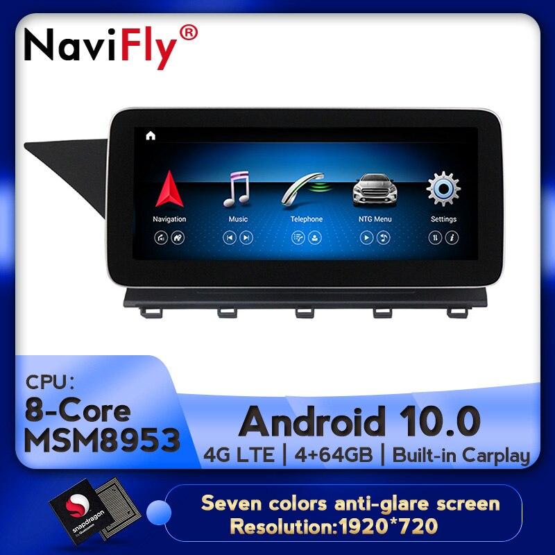 Ips android 10 8 núcleo 4 + 64g carro dvd rádio áudio multimídia player gps navegação para mercedes benz glk classe x204 2008 - 2015