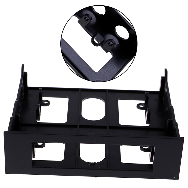 """3,5 """"a 5,25"""" disquete a unidad óptica Bahía montaje soporte Convertidor para Panel frontal Hub lector de tarjetas ventilador controlador de velocidad 1 Uds"""