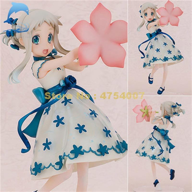 ¡Anime anohana menma Meiko honma ano hana joven de la infancia kawaii flor ver! 1/8 pvc figura 17cm juguete