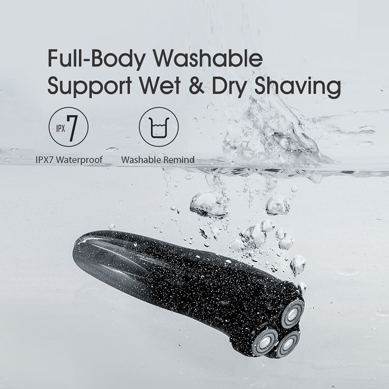 ENCHEN Blackstone 3D Electric Shaver Razor For Men IPX7 Waterproof Wet & Dry Dual Use LCD Display Face Beard Shaving Razor