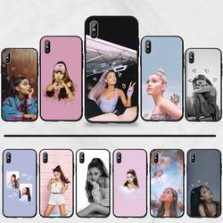 Ariana grande Cobertura Funda Preto TPU Borracha Macia Silicone Telefone Capa Para iphone 5 5c se 6 5S 6s 7 8 plus x xs xr 11 pro max