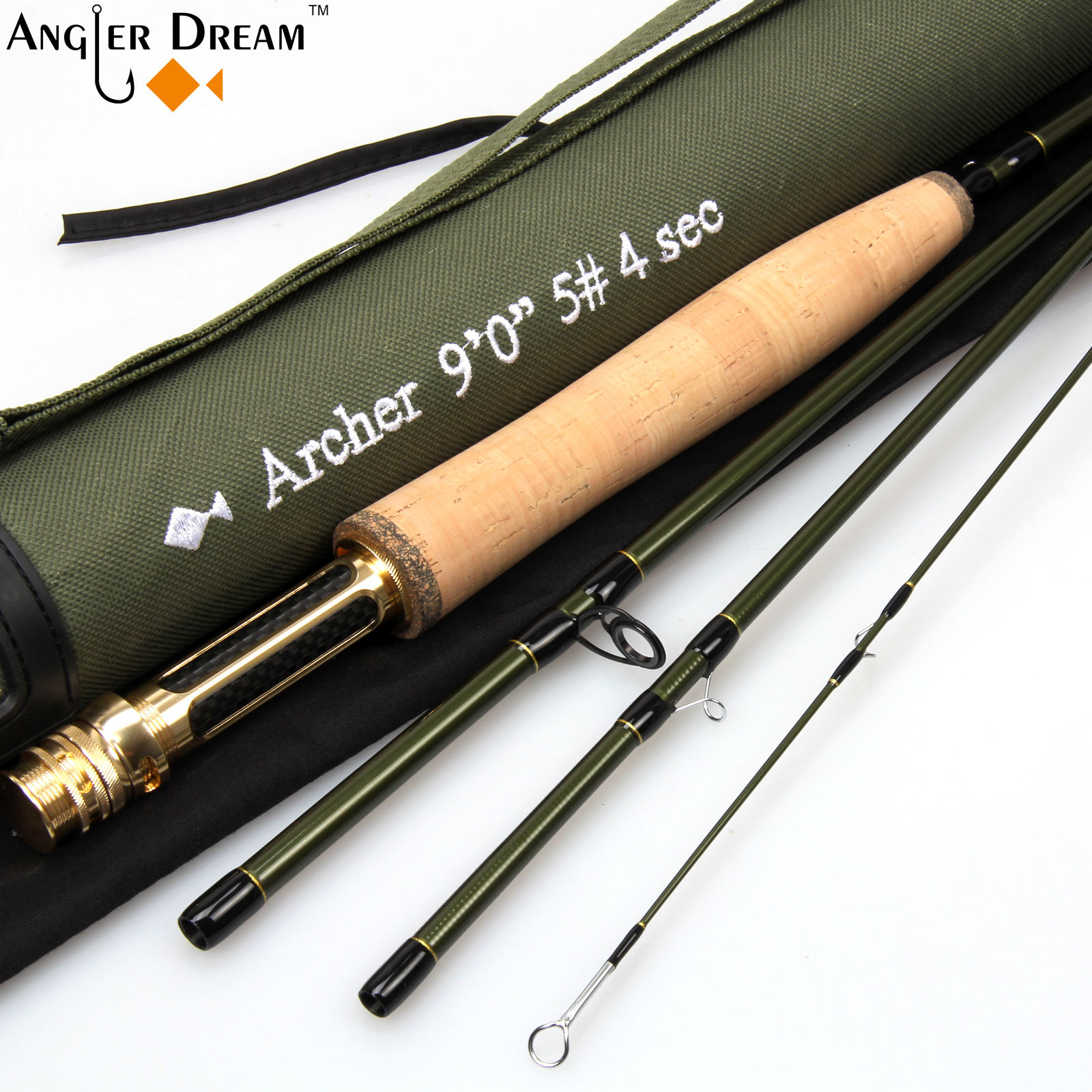 ANGLER DREAM Fishing Tool Fly fishing Rod Set 4 Section 36T Carbon Fiber/Graphite IM10 For Stream Fly Rod Reel Fly Fishing Flies enlarge