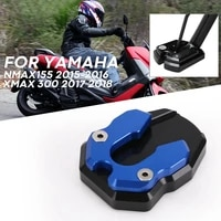 motorcycle side stand for yamaha nmax155 2015 2016 xmax 300 2017 2018 kickstand plate extension support foot pad base