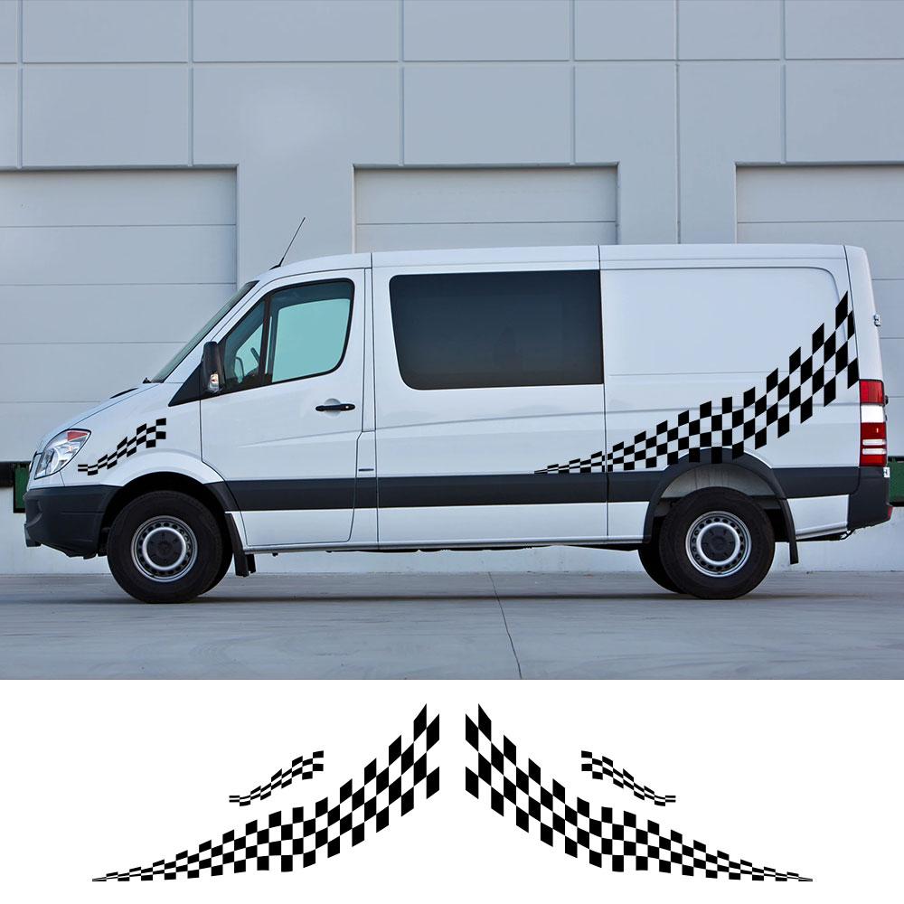 4 unids/lote pegatinas para el coche caravana diseño deportivo rayas gráficos calcomanías...