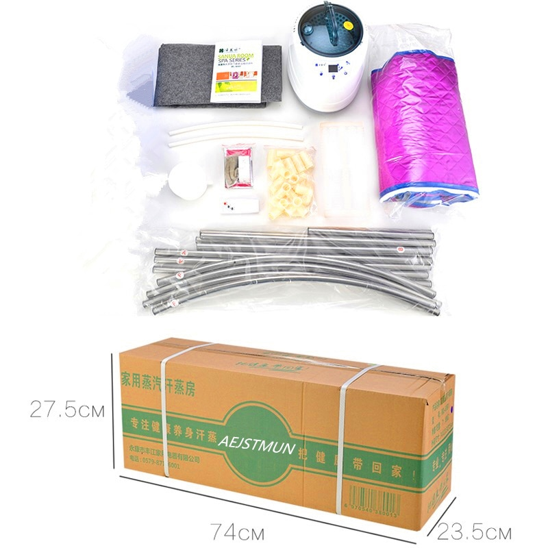 Купить с кэшбэком Home Sauna Steam Box Skin SPA 2000W 4L EU Plug Portable Steam Sauna Tent Steamer Weight Loss  Health Care Steam Shower Generator