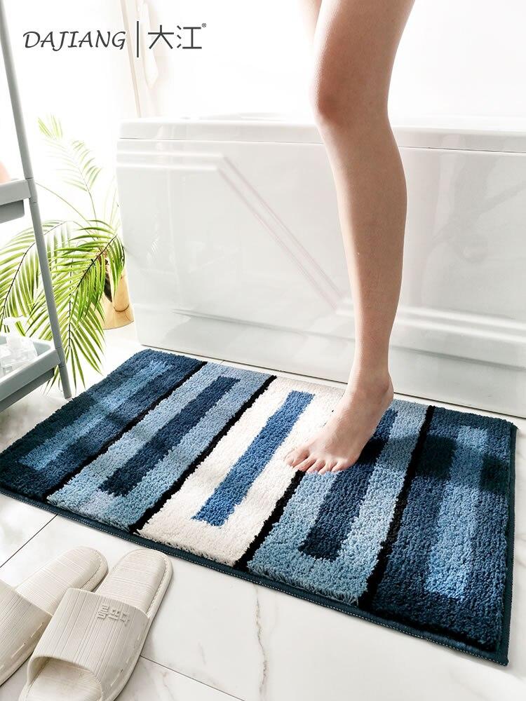 سجادة أرضية هندسية لغرفة النوم ، سجادة مرحاض قابلة للغسل يدويًا ، بسيطة ، نسيج منزلي BF50RU