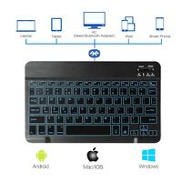 Wireless Backlit Keyboard for iPad Mac iOS Android Windows Tablets Universal 10 inch Keyboard AZERTY QWERTY QWERTZ Italian