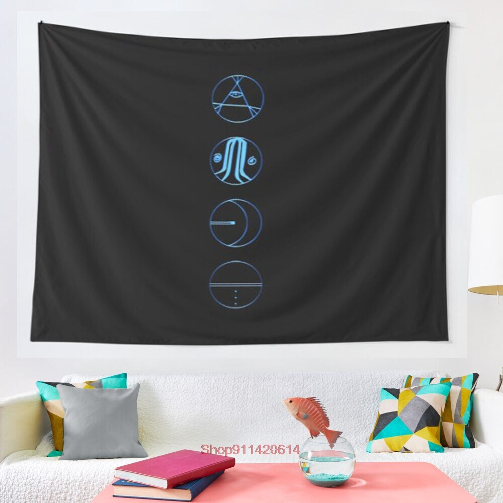 5 seconds of summer symbols tapestry Hippie Tapestry Wall Hanging for Living Room Bedroom Dorm Room Home Decor Tapiz