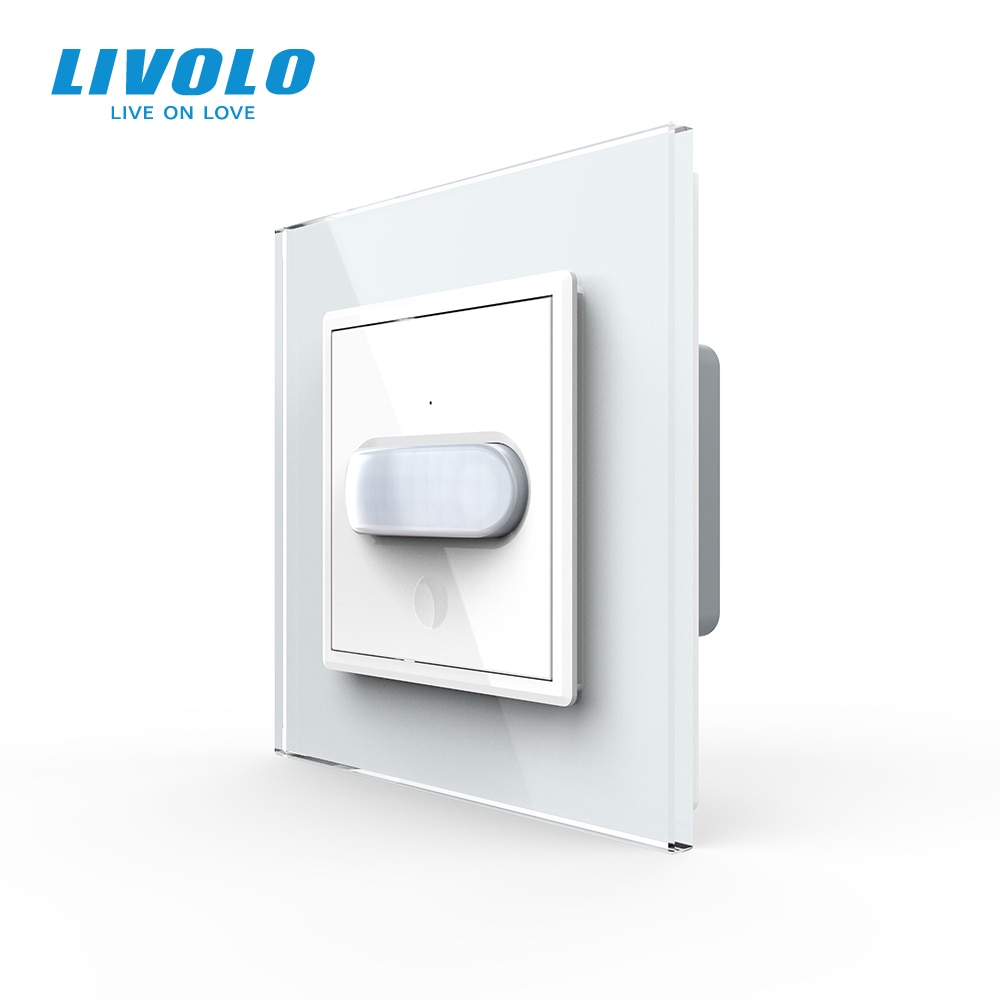 Livolo EU standard New Human Induction/Touch Induction Switch, Glass Panel,Home Wall Light Switch,Infrared Induction,no logo