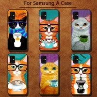 coffee milk drink bottle cat phone cases for samsung a91 01 10s 11 20 21 31 40 50 70 71 80 a2 core a10