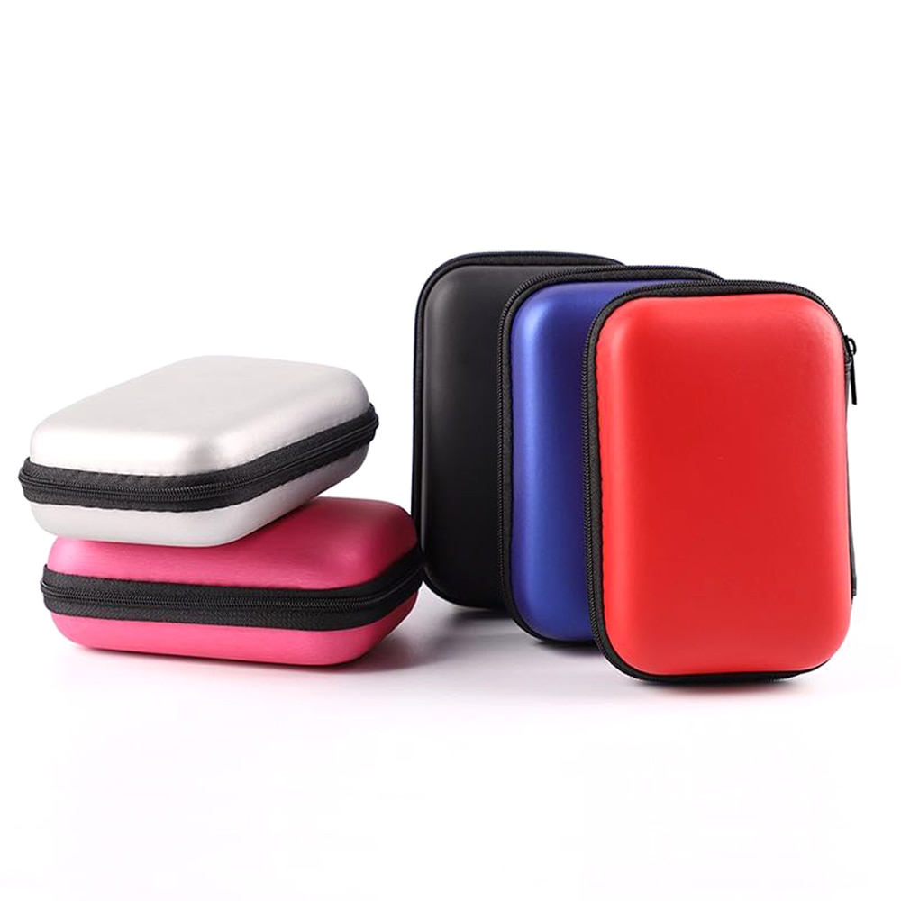 EVA HDD Storage Bag Hard Drive Disk Case SSD Solid State Disk Protection Case For External 2.5'' Hard Drive Earphone
