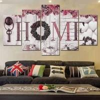 Peintures murales concises de maison   5 pieces  mode  impressions de lettres  peintures murales  Art decoratif  peintures  2020