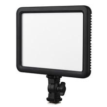 Godox LEDP120C Camera Flash LED Light 12W Dimmable Video Light Panel 3200K-5600K Camera Photo Light with Hot Shoe Adapter