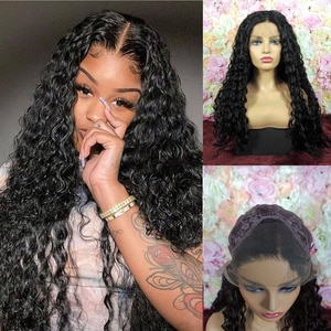 SiNuo Curly 13×3 Synthetic Lace Front Wigs For Women Natural Hair Lifelike 24inch Longth 250% Density Black Perruques Daily Wear