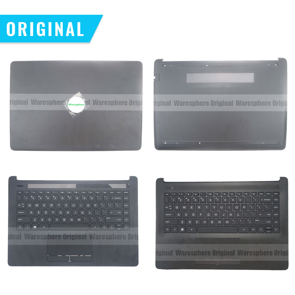 New Original Palmrest for HP 14-CM 14T-CM 14-CK0001TU 14q-cs0000TU Top Cover With US Keyboard Upper Bottom Base Case L23239-001 new for hp 14 cm 14 ck 240 245 246 g7 laptop palmrest upper case us keyboard touchpad l23241 001 l23491 001 l23239 001