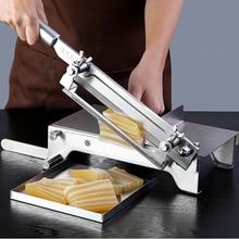 Stainless Steel Slicer Meat Slicer Machine Cakes Gelatin Cake Snowflake Cake Nougat Bread Lamb Meat Cutting Machine