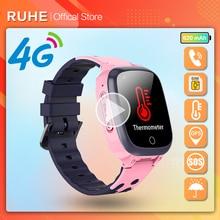 Smart Watch Kids 4G gps WIFI Tracking Video Call Waterproof Thermometer SmartWatch Tracker Boy Girl